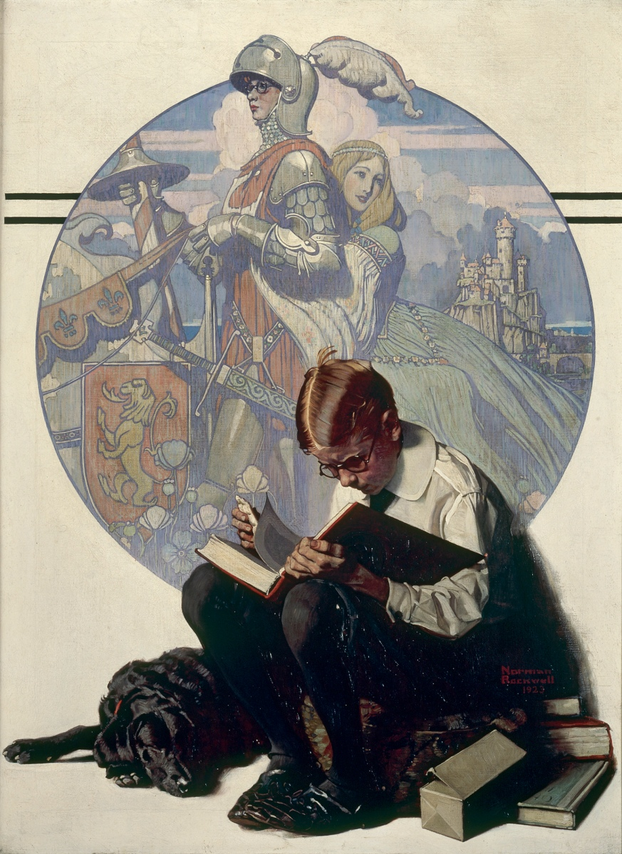 """Boy Reading Adventure Story"" by Norman Rockwell, 1923"